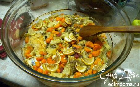 Рецепт Треска запеченная с овощами