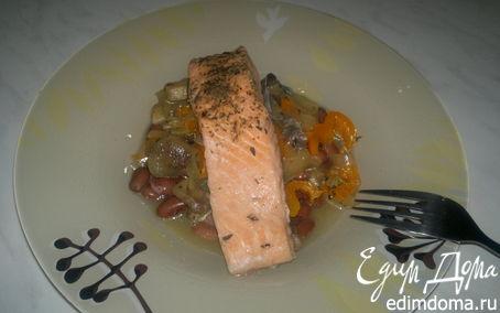 Рецепт Рыбно-бобовая похлебка со сладким перцем и лесными грибами