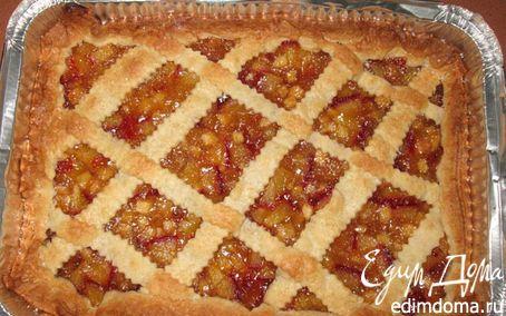Рецепт пирог с яблоками и сливами