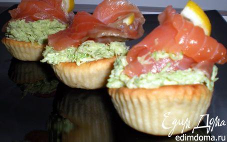 Рецепт Закусочные тарталетки с рыбой и авокадо