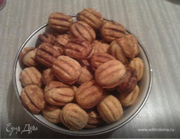 Орешки на сметане со сгущёнкой рецепт в орешнице