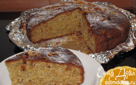 Рецепт Ореховый пирог с апельсиновым сиропом по рецепту Юли Высоцкой