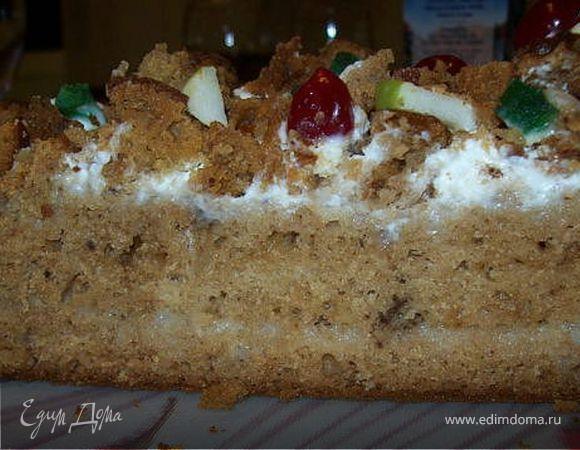 Леках медовый с грецкими орехами (Еврейская кухня)