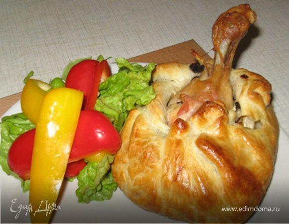 Куриный мешок с гарниром (празднично)
