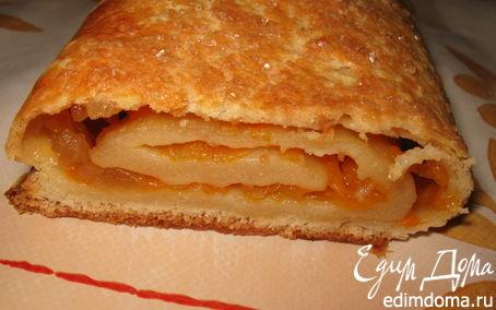 Рецепт Штрудель с яблоком и тыквой