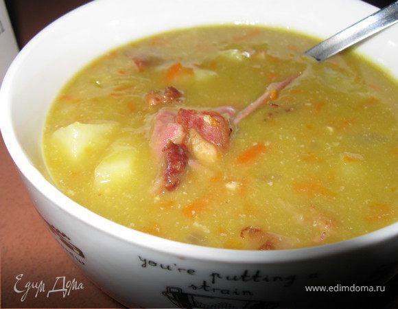 рецепт гороховый суп с копченой грудинкой рецепт