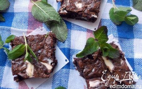 Рецепт Мятный и чрезвычайно шоколадный брауни:)
