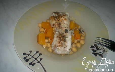 Рецепт Рыбная похлебка с треской, нутом и тыквой