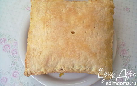 Рецепт Пирог слоеный с творогом