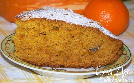 Рецепт Тыквенный кекс с апельсином и финиками