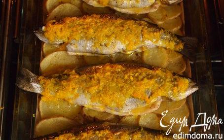 Рецепт Форель запеченая с картофелем.