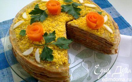 Рецепт Блинно-печеночный торт