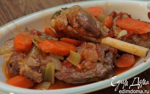 Рецепт Томленая баранина с овощами