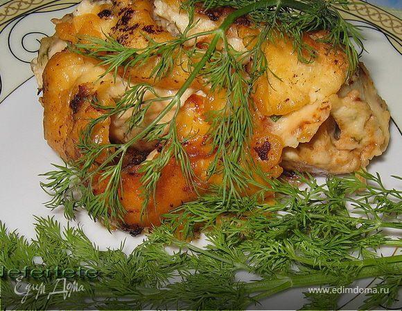 Куриное филе с белой фасолью.