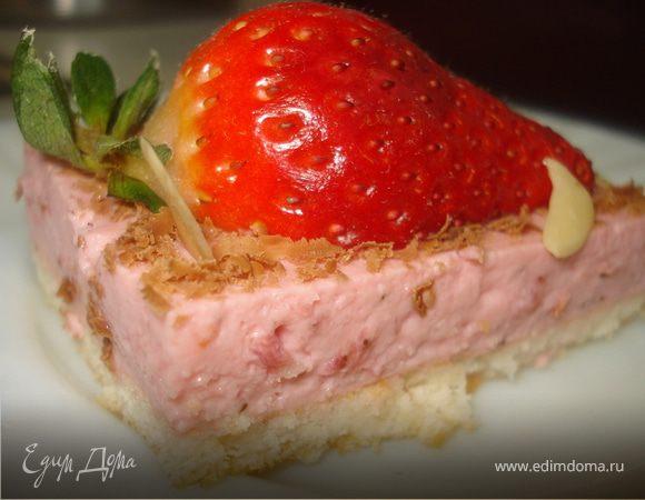 Тортик-light с клубничным суфле