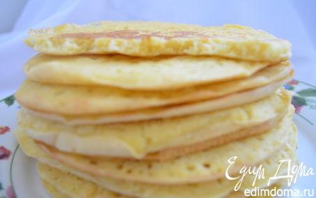 Рецепт Пшёно–кукурузные блины « Диск Солнца»
