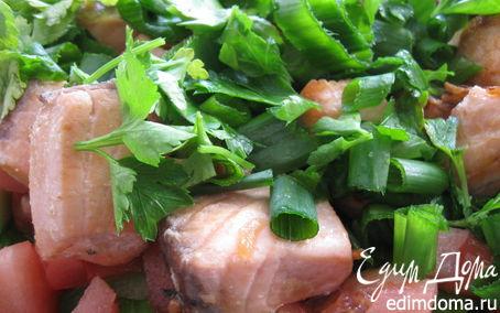 Рецепт Летний салатик с лососем