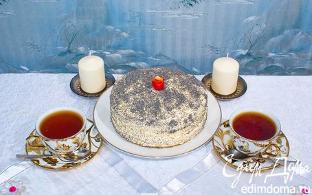 """Рецепт Бисквитный торт """"Маковка"""""""