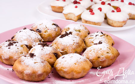 Рецепт Аппетитные кексы с клюквой и шоколадом