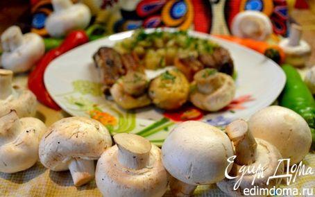 Рецепт Грудинка с грибами