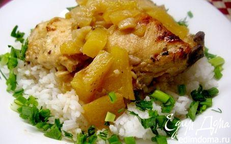 Рецепт Курица в ананасе