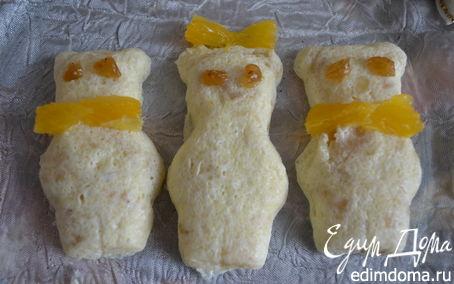"""Рецепт Творожная запеканка с бананом и апельсинами """"Три медведя"""""""
