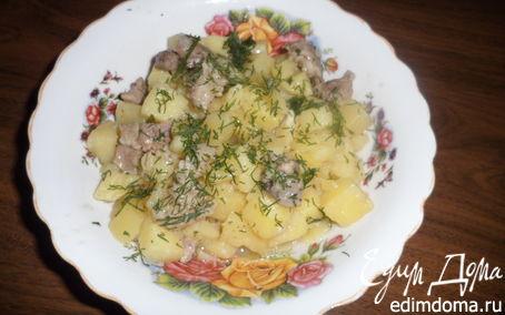 Рецепт Тушеная картошка с мясом