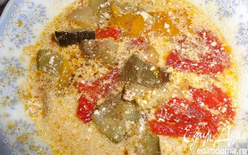 Рецепт Средиземноморский суп с запеченными овощами