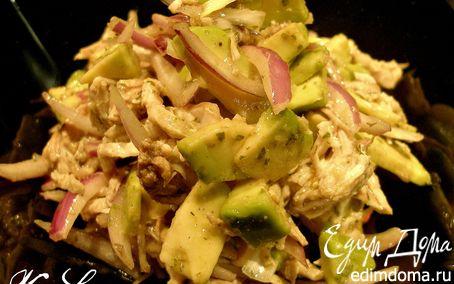 Рецепт Салат с авокадо и мясом птицы