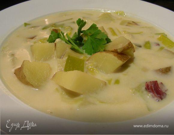 Суп(пюре) из лука-порея и картофеля