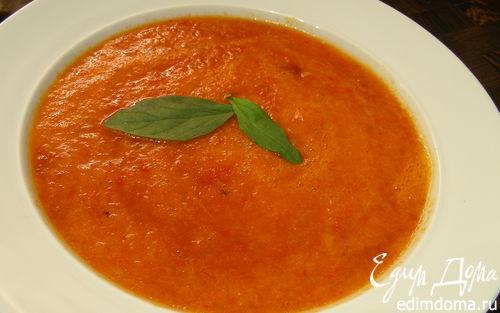 Рецепт Суп из запеченных перцев с апельсиновым соком и тмином