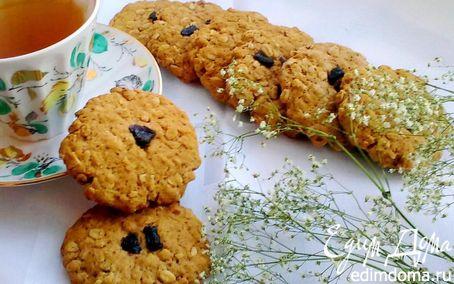 Рецепт Яблочно - овсяное печенье. Постное