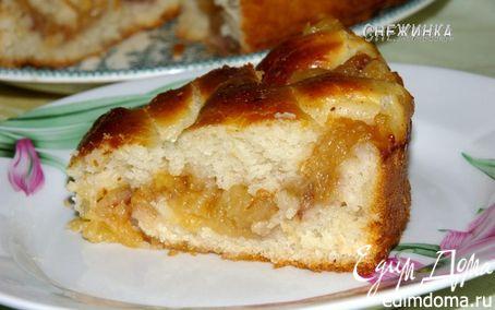 Рецепт Пирог с яблочной стружкой (постный)