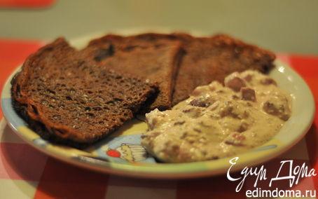 Рецепт Шоколадные блины с творожным кремом для родителя))
