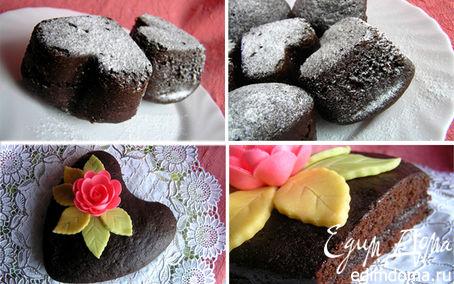 Рецепт Шоколадно-клубничные кексы или Торт