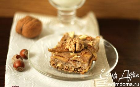 Рецепт Овсяный пирог с банановой заливкой