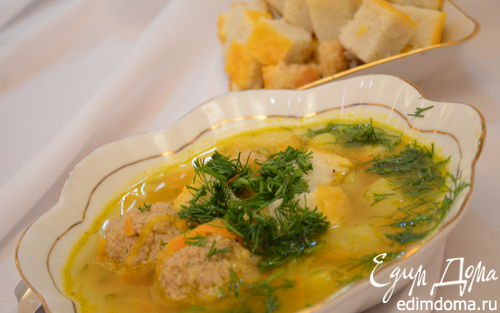 Рецепт Суп с рисовыми кубиками