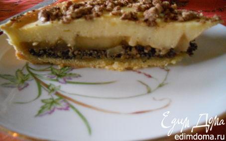 Рецепт Яблочно -грушевый пирог с маком и творогом