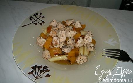 Рецепт Паста с тыквой, бальзамическим уксусом и индейкой