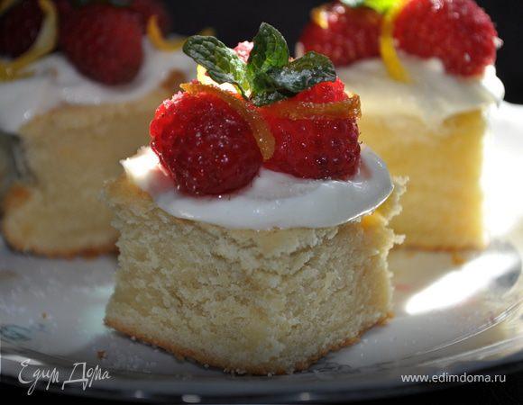 Чайный торт с ягодами-Spoonful of sugar teacakes