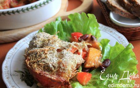 Рецепт Запеканка из тыквы и красной фасоли в пряной панировке