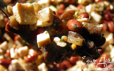 Рецепт Салат с тофу, фасолью и грибами