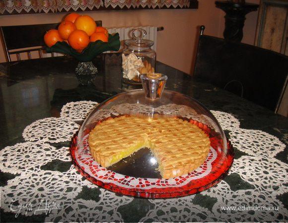 Нежный песочный тарт с лимонным кремом (Crostata con la crema limone)