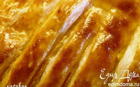 Рецепт Слойки с абрикосовым джемом и сливовым конфитюром