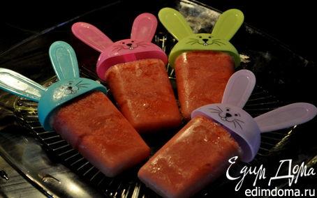 Рецепт Фруктовый лед-Strawberry Orange Popsicles