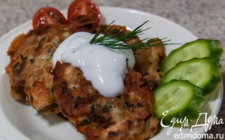 Рецепт Драники с курицей и сыром