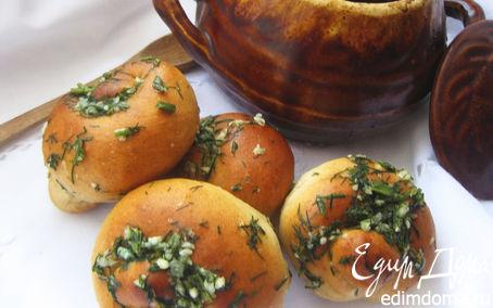 Рецепт Закусочные булочки с зеленью и чесноком
