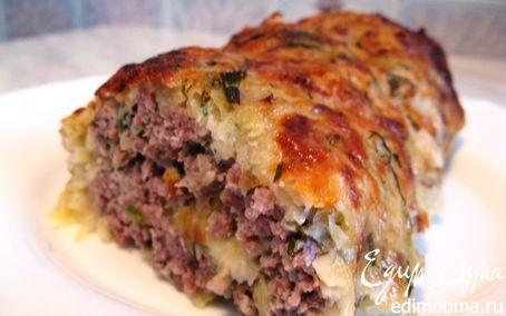Рецепт Мясной рулет в аппетитной картофельной шубке