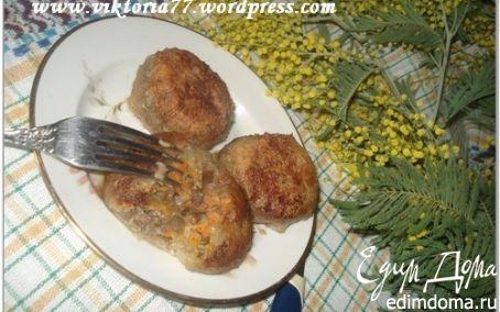 Рецепт Картофельные шарики с грибами