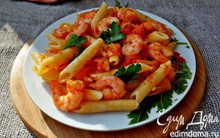 Рецепт Пенне с овощами и креветками
